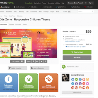 Themeforest: KidsZone