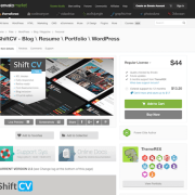 Themeforest: ShiftCV