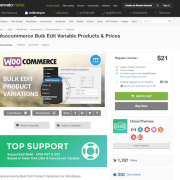Codecanyon: Woocommerce Bulk Edit Variable Products & Prices
