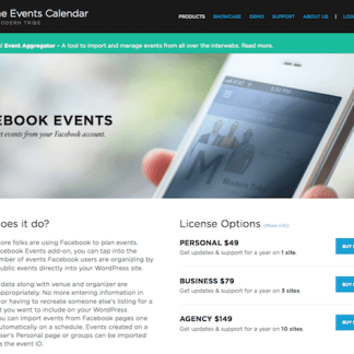 The Events Calendar: Facebook Events