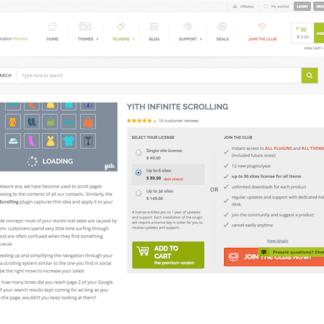 YITH WooCommerce: Infinite Scrolling Premium