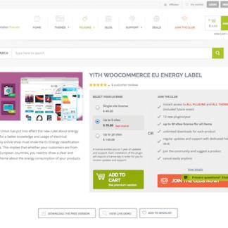 YITH WooCommerce: EU Energy Label Premium
