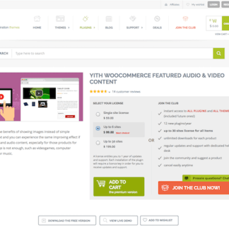 YITH WooCommerce: Featured Audio and Video Content