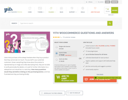 YITH WooCommerce: Questions and Answers Premium
