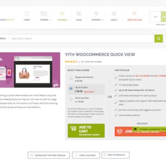 YITH WooCommerce: Quick View Premium