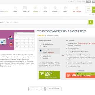 YITH WooCommerce: Role Based Prices Premium