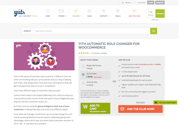 YITH WooCommerce: Automatic Role Changer