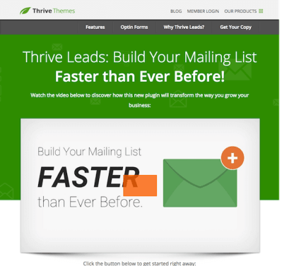 Thrive Themes Plugin: Leads