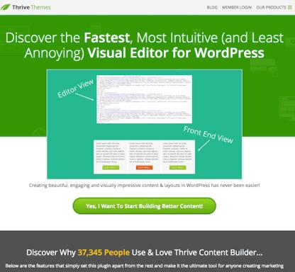 Thrive Themes Plugin: Visual Editor