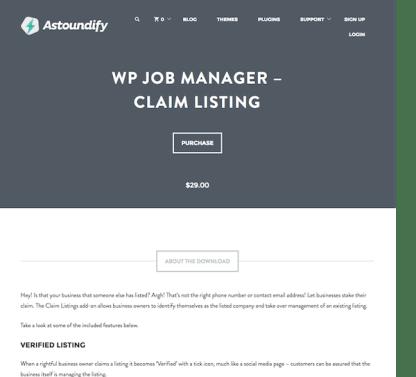 WP Job Manager Add-On: Claim Listing