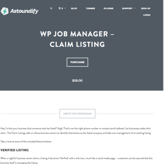 WP Job Manager Add-On: Claim Listing