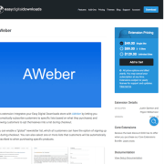 Easy Digital Downloads: Aweber