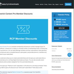 Easy Digital Downloads: Restrict Content Pro Member Discounts