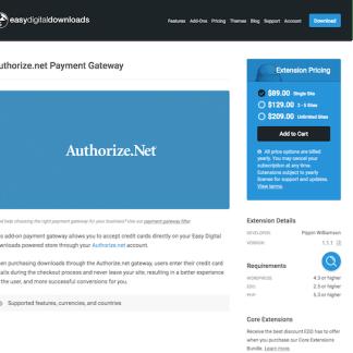 Easy Digital Downloads: Authorize.net Gateway