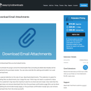 Easy Digital Downloads: Download Email Attachments