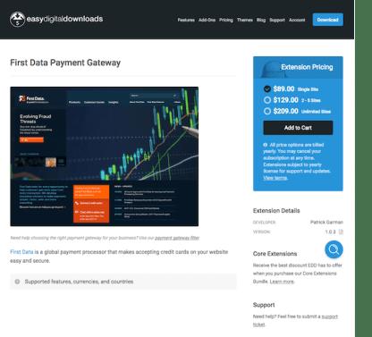Easy Digital Downloads: FirstData Gateway