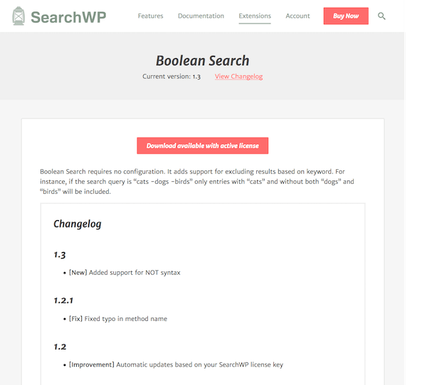 SearchWP: Boolean Query
