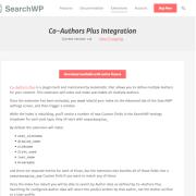 SearchWP: Co-Authors Plus Integration