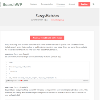SearchWP: Fuzzy Matches