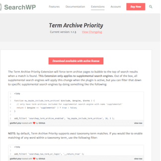 SearchWP: Term Archive Priority