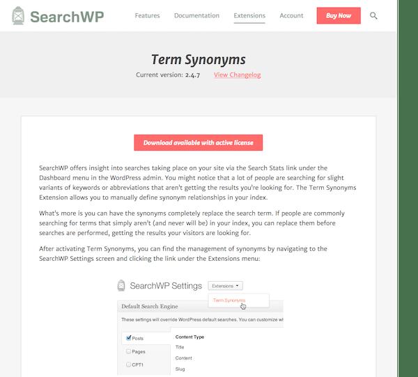 SearchWP: Term Synonyms