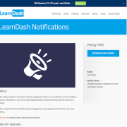 LearnDash LMS Add-On: Notifications