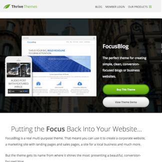 Thrive Themes: Focusblog WordPress Theme