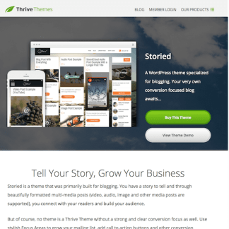 Thrive Themes: Storied WordPress Theme
