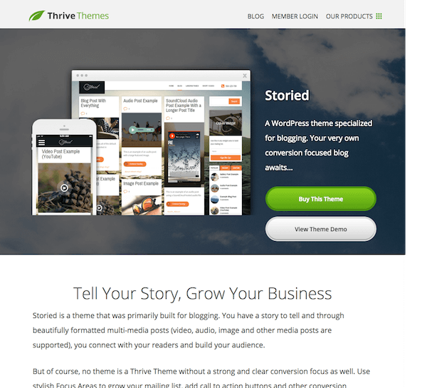 Thrive Themes: Storied WordPress Theme