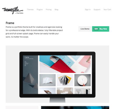ThemeZilla: Frame WordPress Theme