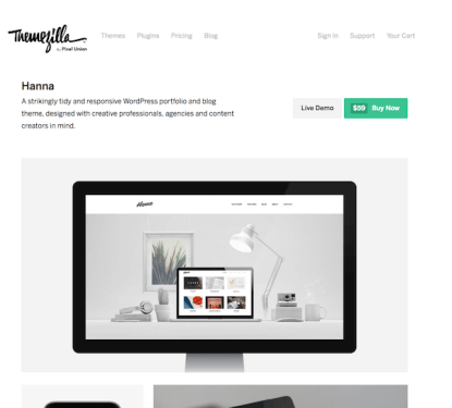 ThemeZilla: Hanna WordPress Theme