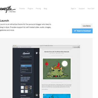 ThemeZilla: Launch WordPress Theme