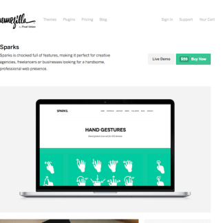 ThemeZilla: Sparks WordPress Theme