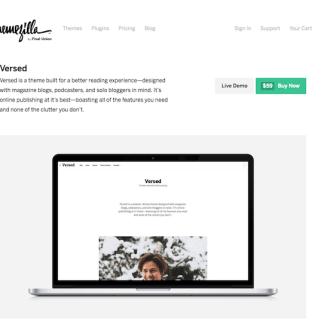 ThemeZilla: Versed WordPress Theme