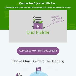 Thrive Themes Plugin: Quiz Builder