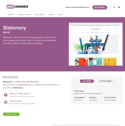 WooThemes: Stationary