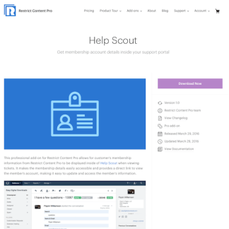 Restric Content Pro: Help Scout