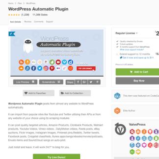 Codecanyon: WordPress Automatic Plugin