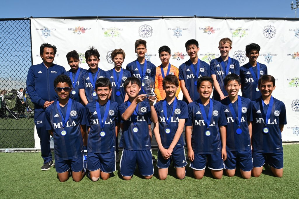 05B Pumas White U14 Gold Champions at MVLA Bay Area Spring Cup