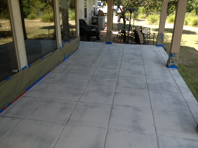 Stained Concrete Patio In Fair Oaks Ranch Texas MVL