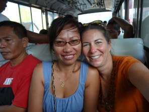 On the Victory Liner bus