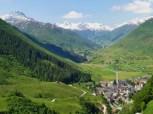 Valley along the Oberalp Pass