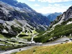 Descending the Stelvio Pass to Bormio