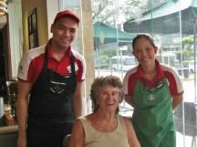 With Justin & Carlet at Starbucks