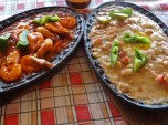 Sizzling Prawns and Seafood Sisig