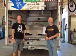 With Craig at Bullfrog Boats