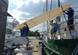 Lifting the Bimini Top for Try Fit
