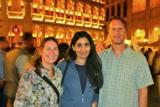 With Farida in Doha, 2015