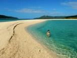 Swimming at Bonbon Beach