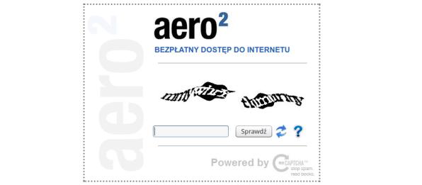 Aero2 trudniejsze kody CAPTCHA